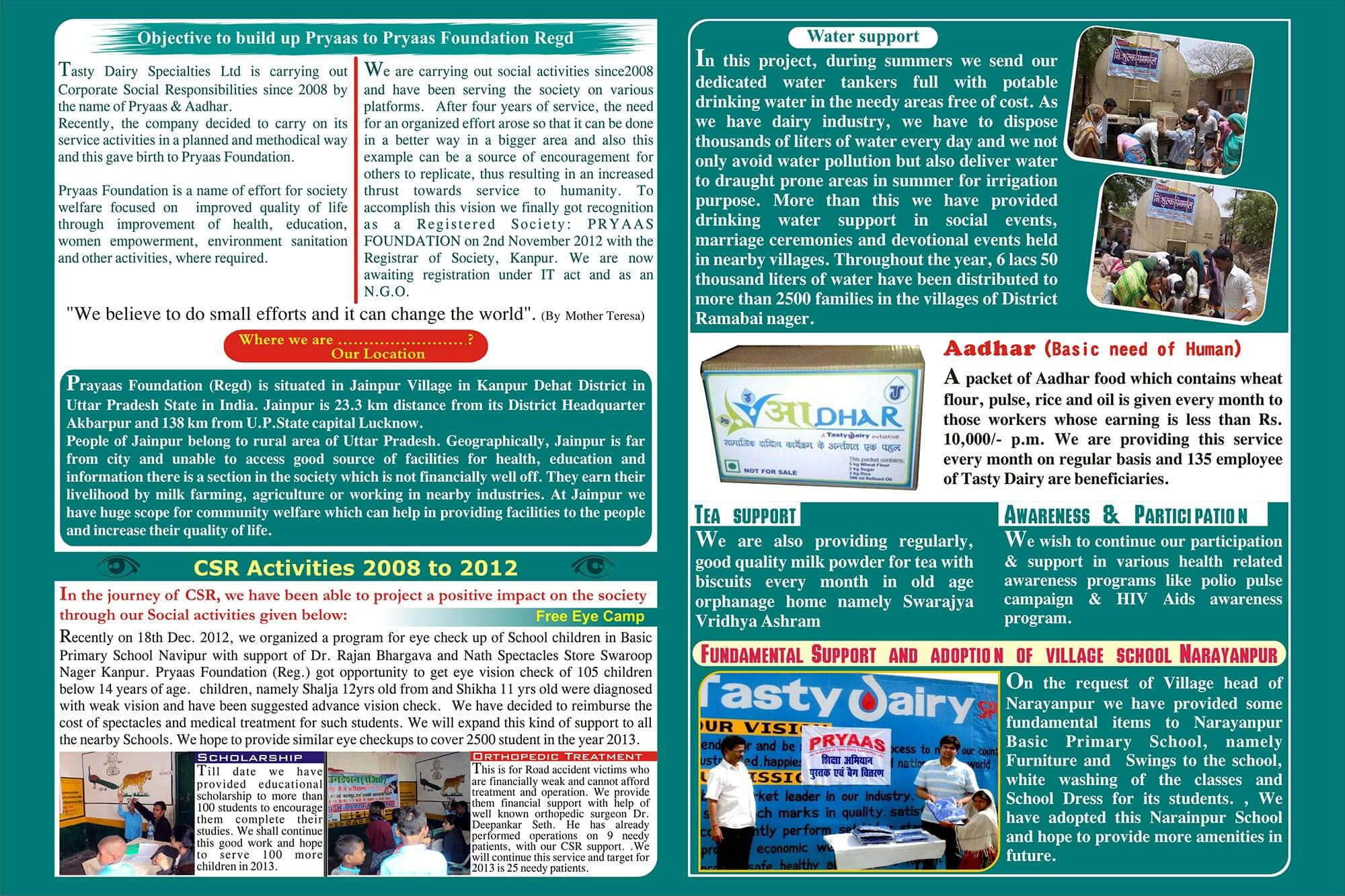 CSR Neswletter 2013 - Back Part